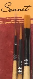 Sonnet Synthetic Brush Set №4