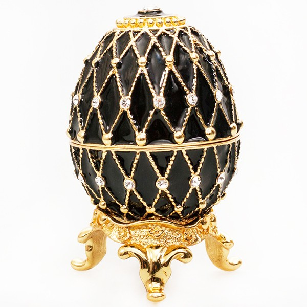 Easter Gift Ideas Egg Box with the Clock (black), 2.5