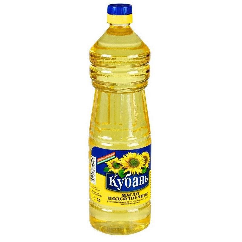 Refined Deodorized Sunflower Oil, Kuban, 1 l/ 33.81 oz