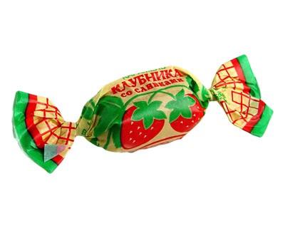 "Caramels ""Klubnika so Slivkami"" (Strawberry with cream)"