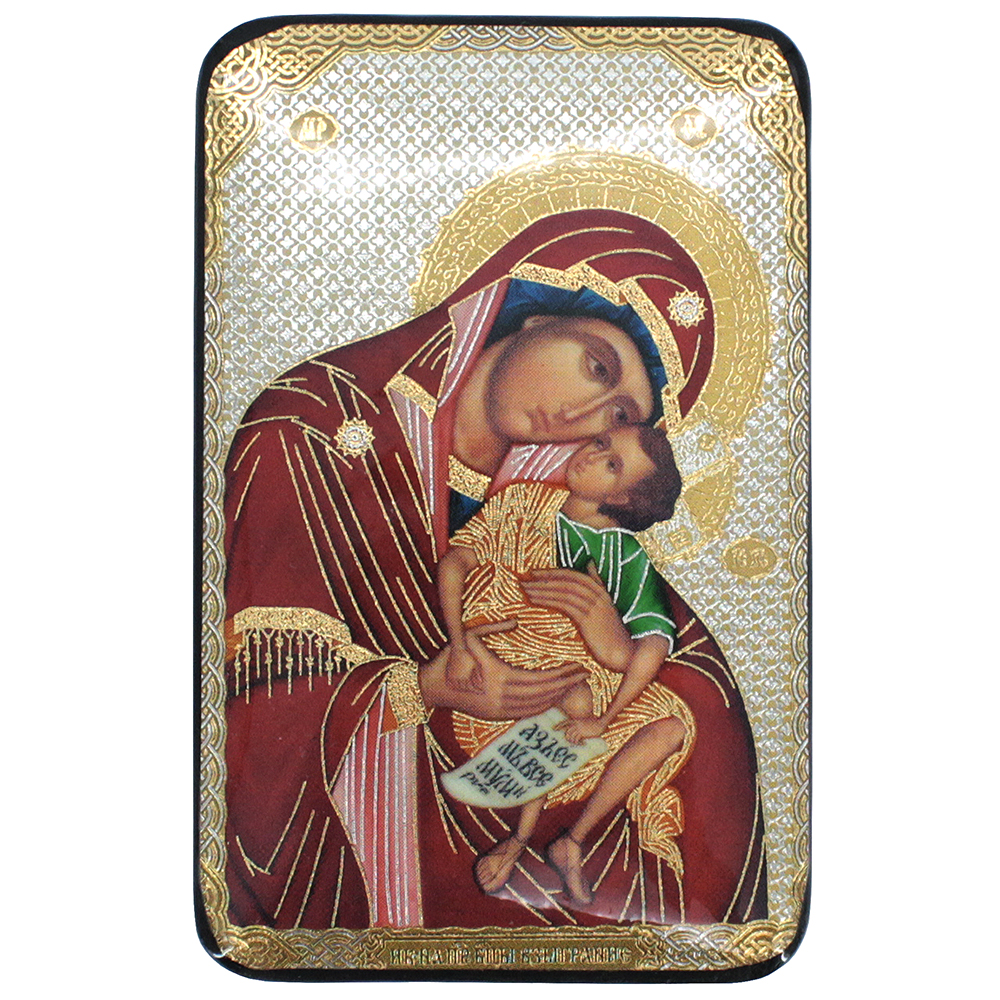 Lacquered Jewelry Box, Virgin with the Playing Child (Pelagonitissa)