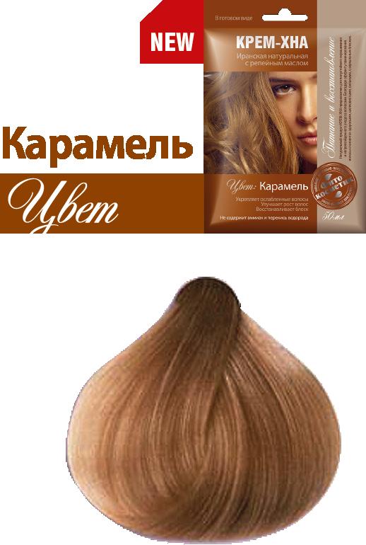 Ready-to-Use Henna Cream with Burdock Oil. Caramel Shade, 1.77 oz / 50 ml