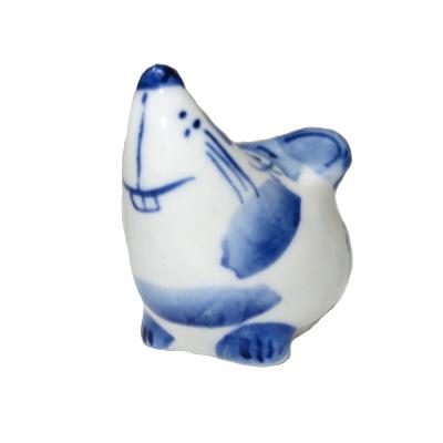 Symbol of the Year 2020 Exclusive Gzhel Souvenir Little rat Porcelain Hand painted, 1.5