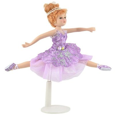 Porcelain PINK Clothing Ballerina Doll, 8