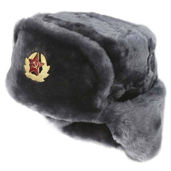 ... Russian Soviet Army Fur Military Cossack Ushanka Hat with Soviet Army  Soldier Insignia 4de73ee4211