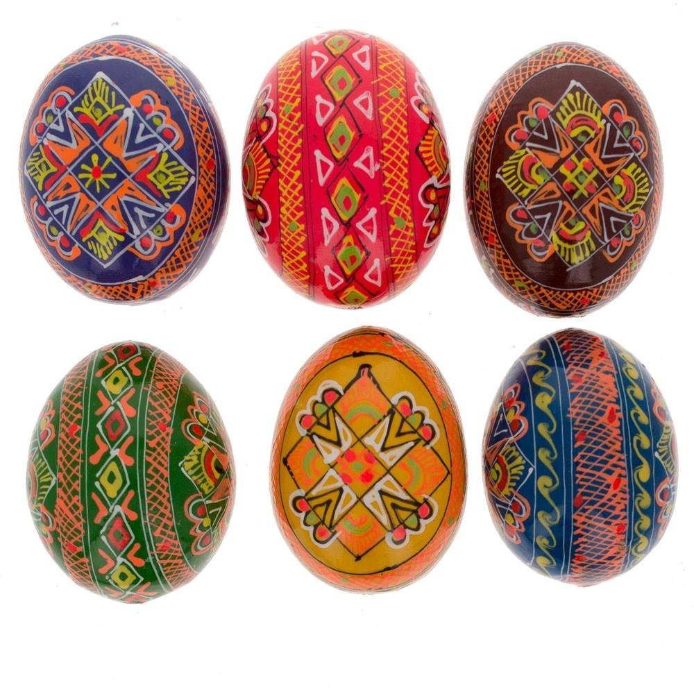 Wooden Easter Hand Painted Egg, 2.5