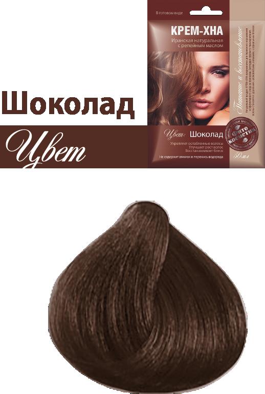 Ready-to-Use Henna Cream with Burdock Oil. Chocolate Shade, 1.77 oz / 50 ml