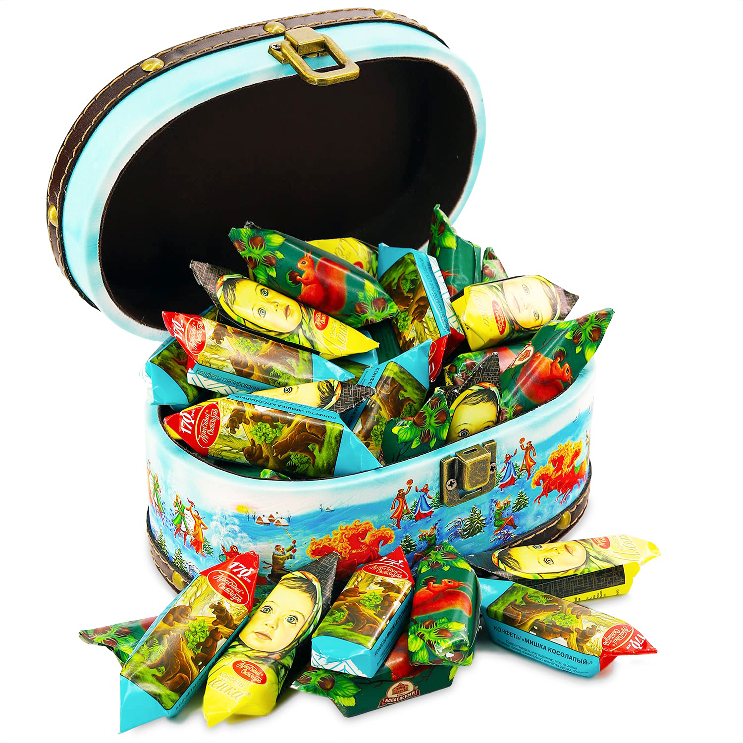 Exclusive Sweet Gift (Only Chocolate Candy Inside) Troika, Wood+Leather, 450 g/ 1 lb