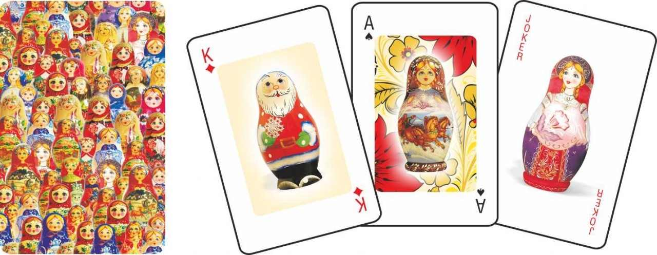 Playing Cards Matryoshka (plastic coated)