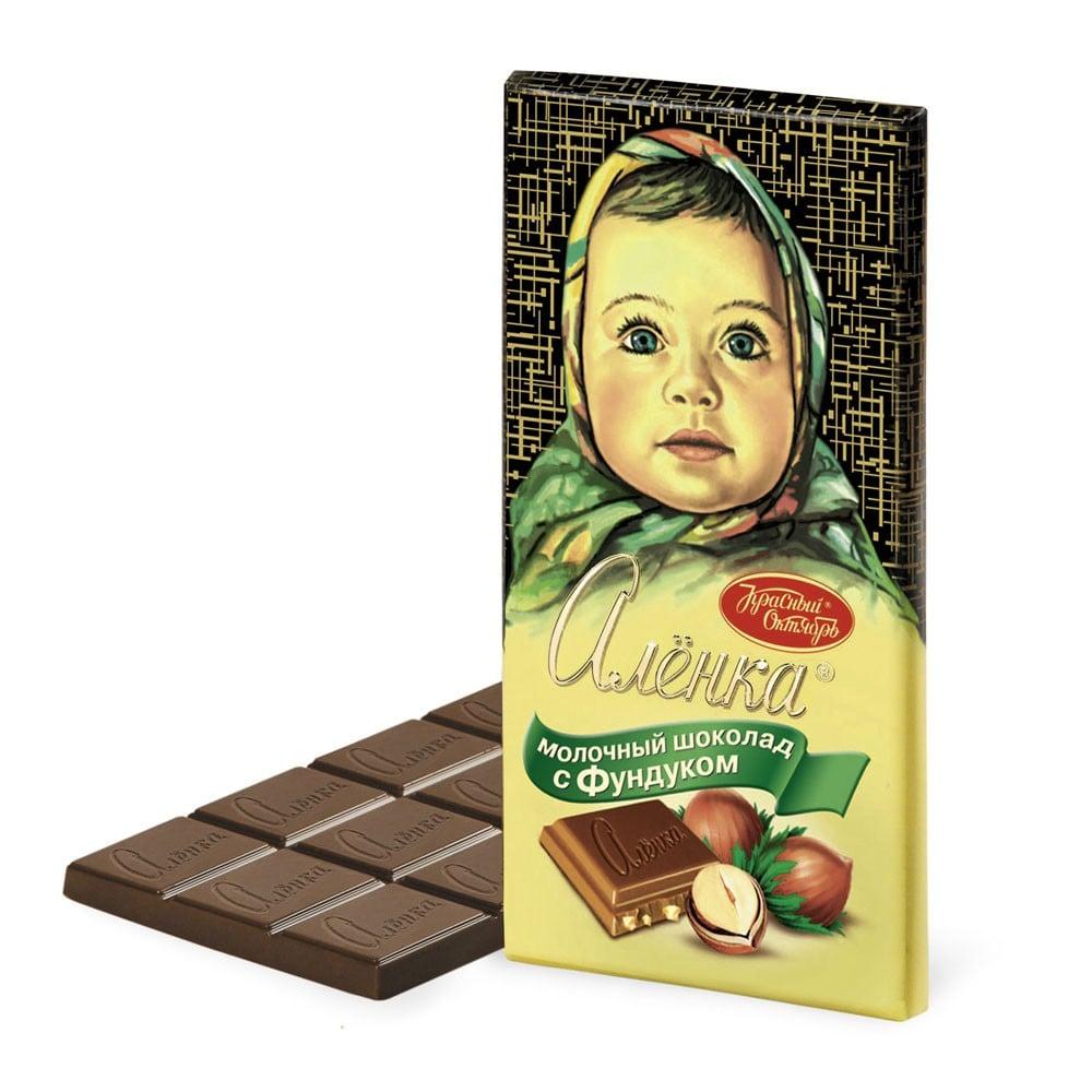Alenka Milk Chocolate with Hazelnut, 3.52 oz / 100 g