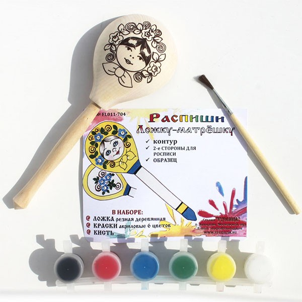 Wooden Spoon Coloring Art Kit, 1 pc, 7.5