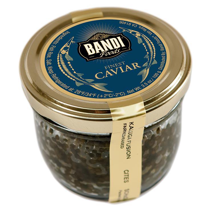 Kaluga Black Caviar, Bandi, 100 g/ 0.22 lb