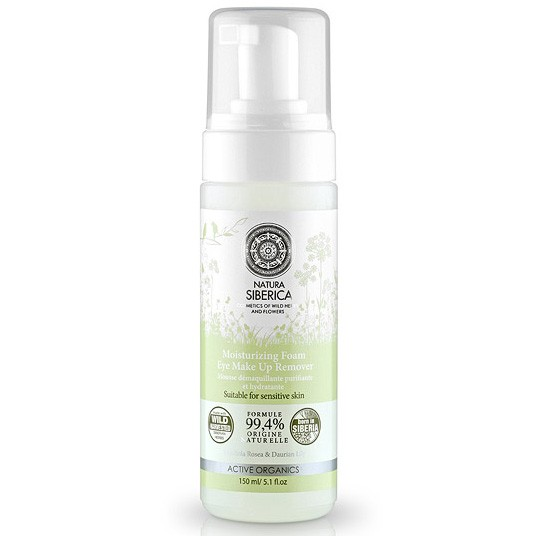 Moisturizing Foam Make UP Remover for Sensitive Skin (NATURAL & ORGANIC), 3.38 oz/ 100 ml