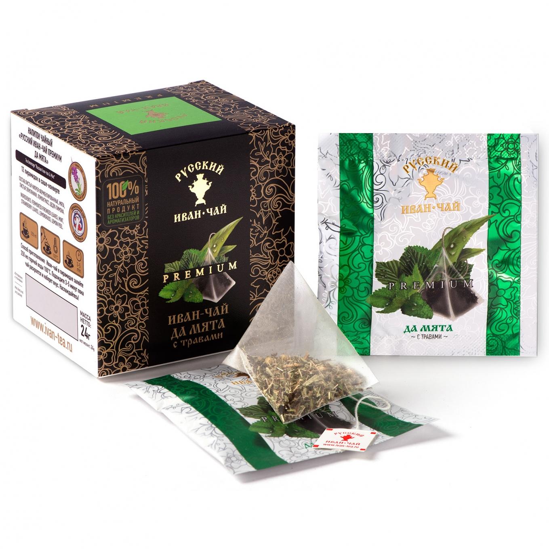 Premium Ivan-Tea and Peppermint, 12 pyramids *2gr