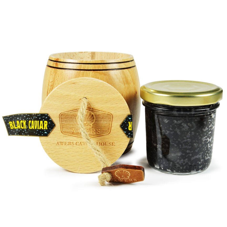 Wood Barrel Bowfin Black Caviar  100gr (3.5Oz)