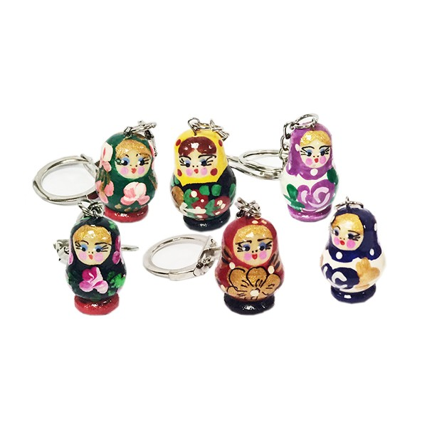 Mini Matryoshka Keychain, Height  1