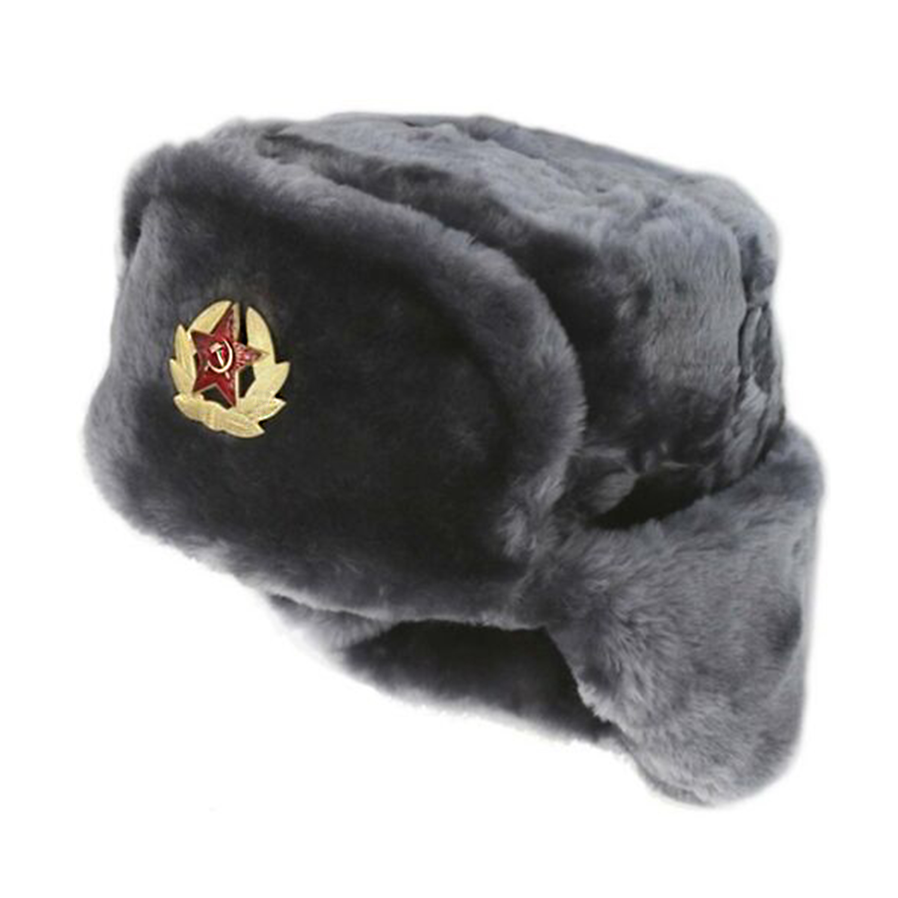 f4f83fca2c141 ... Russian Soviet Army Fur Military Cossack Ushanka Hat with Soviet Army  Soldier Insignia