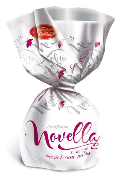 """""""Novella"""" chocolate candy with berries jelly"""