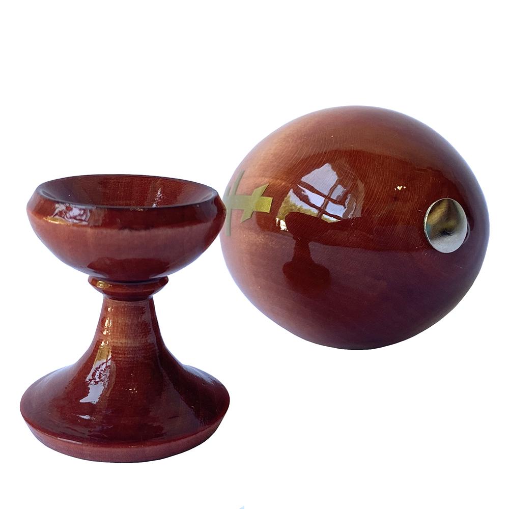 Russian Souvenir Wooden Egg Icon of the Mother Of God Tenderness Zhirovitskaya Egg height 3.5