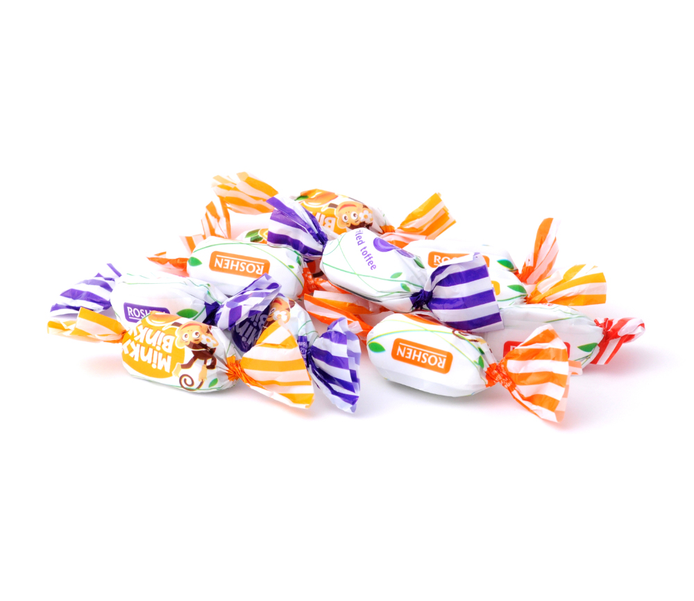 Roshen Minky Binky Toffee Candy with Jelly Filling 2.2 lbs/ 1 Kg