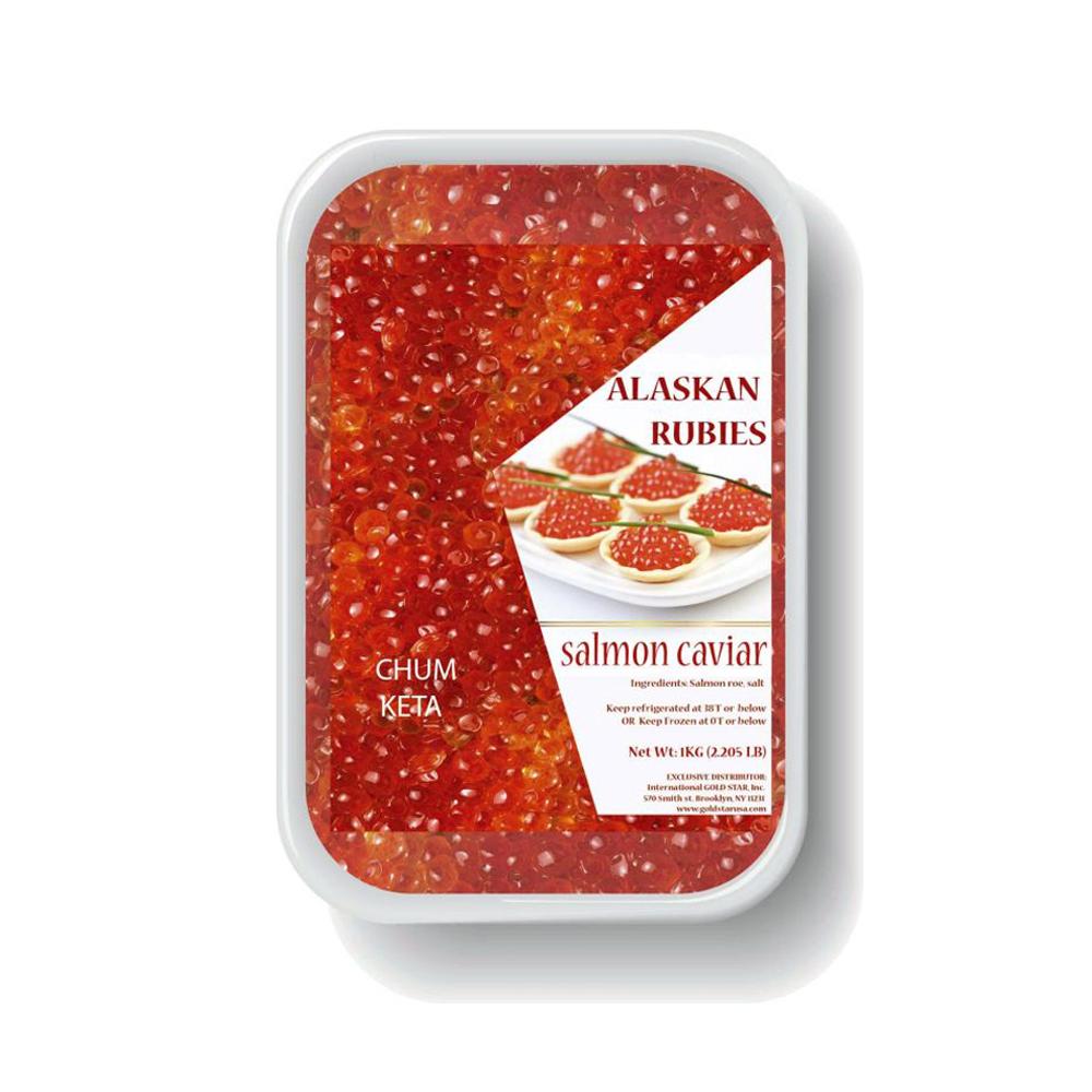 Premium Chum (Keta) Caviar, Alaskan Rubies, 500 g / 17.63 oz