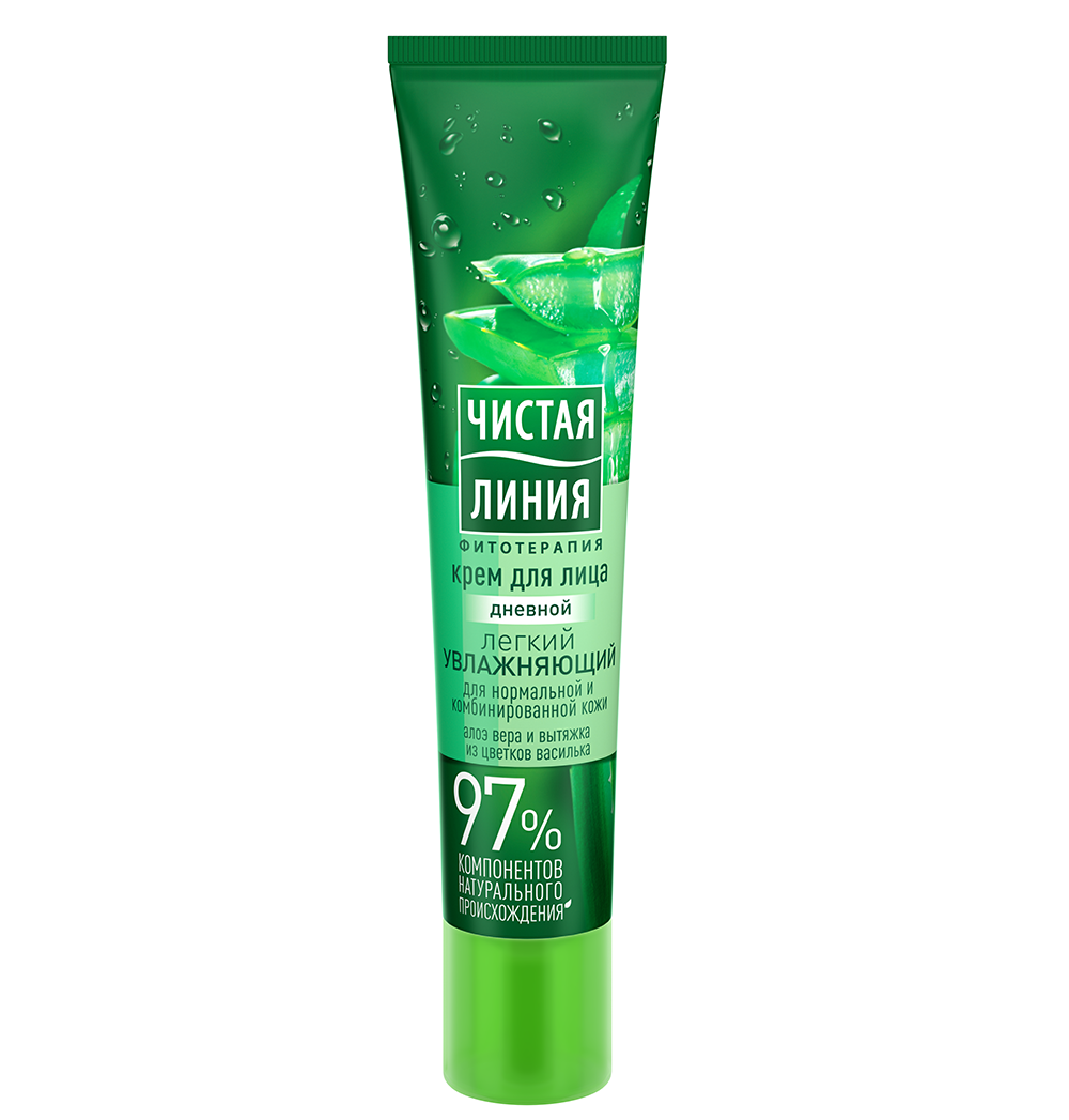 Moisturizing Day Cream for normal and combination skin with aloe, 1 oz/ 30 Ml