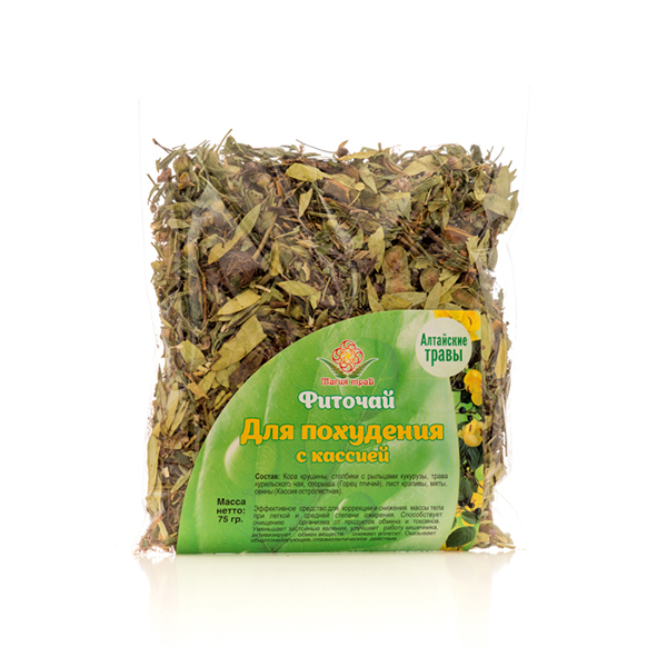 Herbal Phyto Tea with Cassia for Weight Loss, 2.64 oz / 75 g