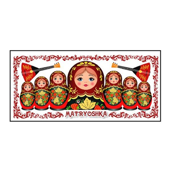 Souvenir Mug Khokhloma/ Nesting Dolls Martyoshka, 3.75