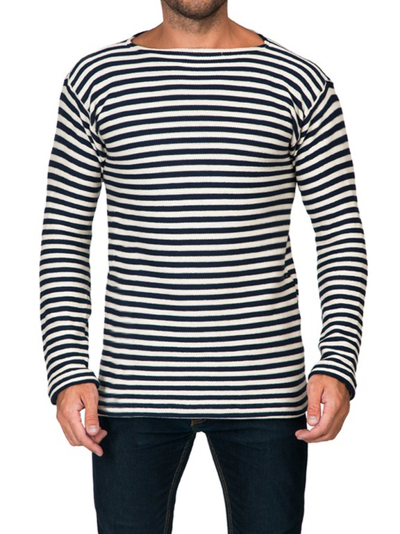 Winter Wool Double Thick Russian Marine Telnyashka Shirt, size 50 (European M)