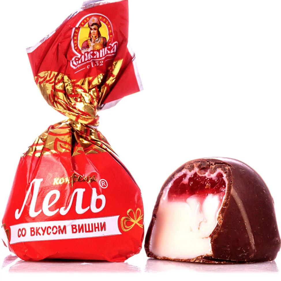 Cherry-Flavored Chocolate Candy, Lel', Slavyanka, 1 kg/ 2.2 lb