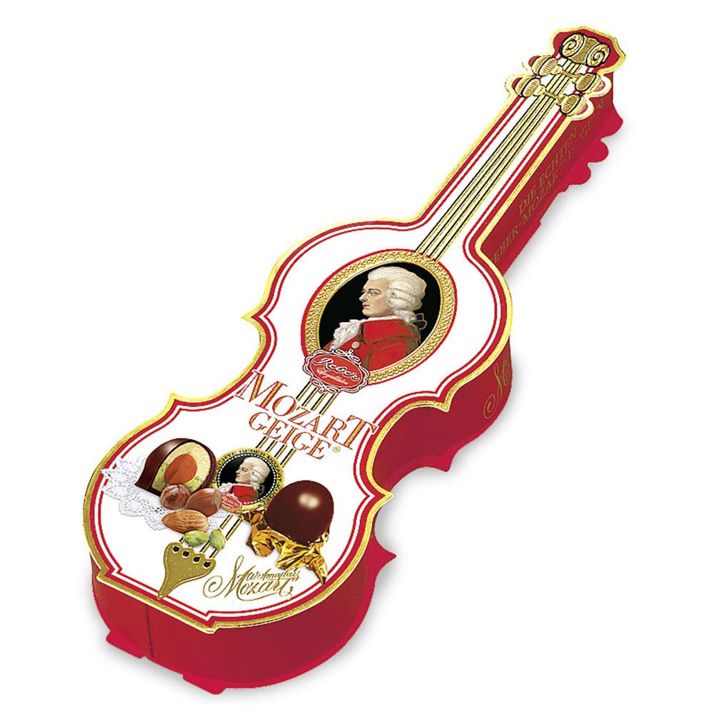 Reber Mozart Kugeln in Violin Gift Box, 200 gr