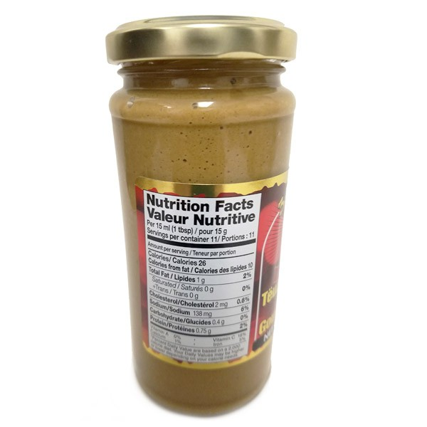 "Gourmet mustard Teshina Extra Spisy ""Zakuson"" 250gr/8.8 Oz"