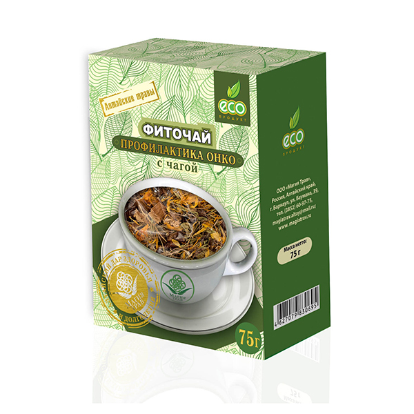 Herbal Phyto Tea with Chaga, 2.64 oz / 75 g