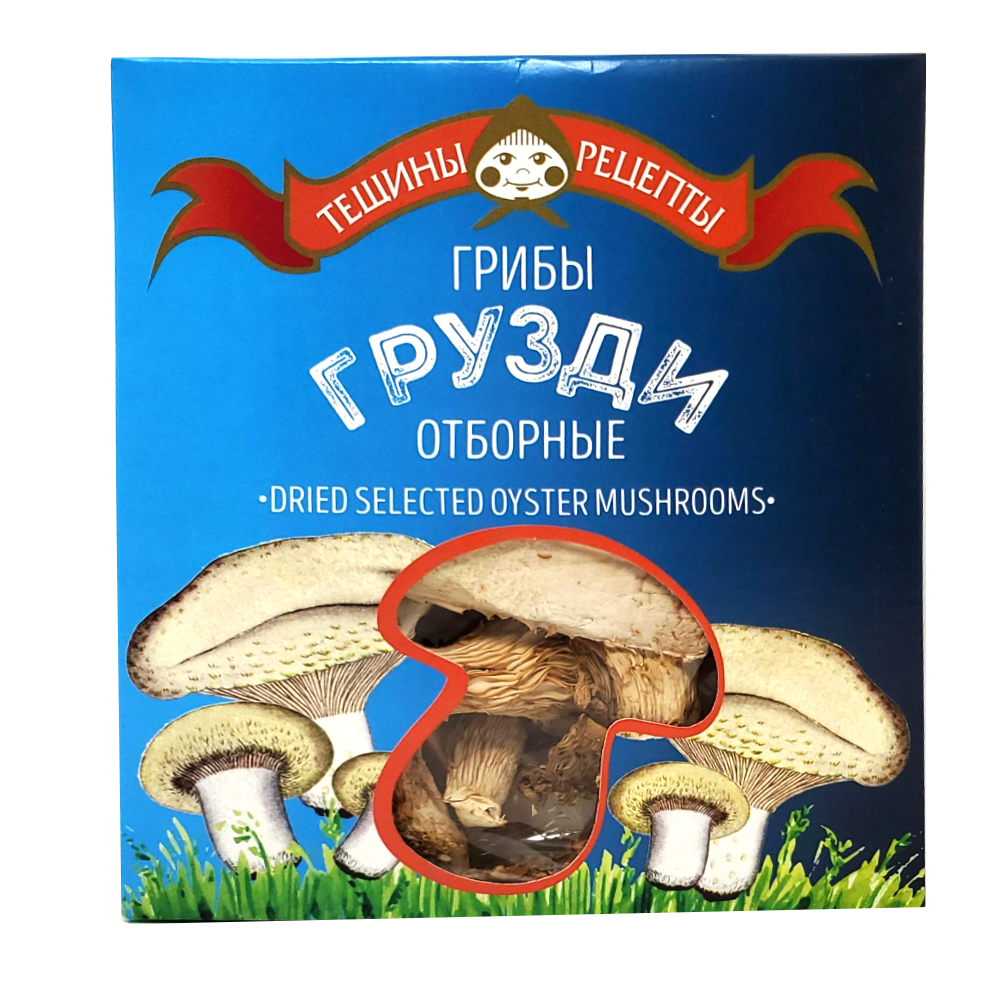 Selected Dried Oysters Mushrooms, Tescha's Recipes, 25 g/ 0.055 lb