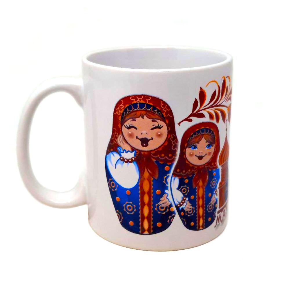 Souvenir Mug/ Matryoshka, 3.75''