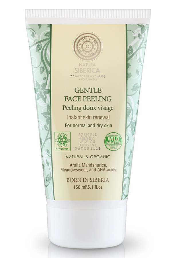 NATURAL & ORGANIC Gentle Face Peeling Instantaneous for Dry and Normal Skin, 5.1 oz/ 150 Ml