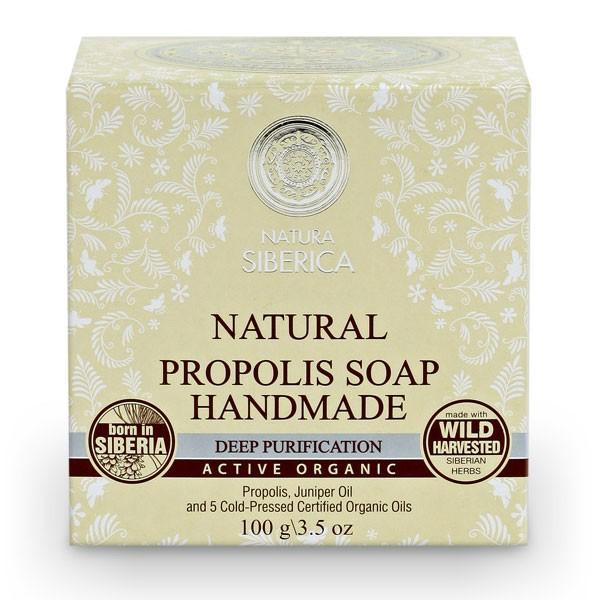 "Natural Propolis Handmade Soap ""Deep Skin Cleansing"" with Juniper Oil, 3.52 oz/ 100 g"