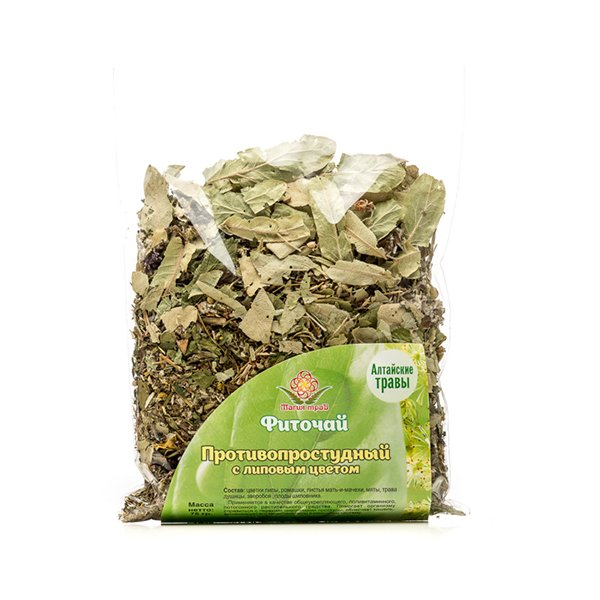 Herbal Phyto Tea with Linden Flowers against Flu and Cold, 2.64 oz / 75 g