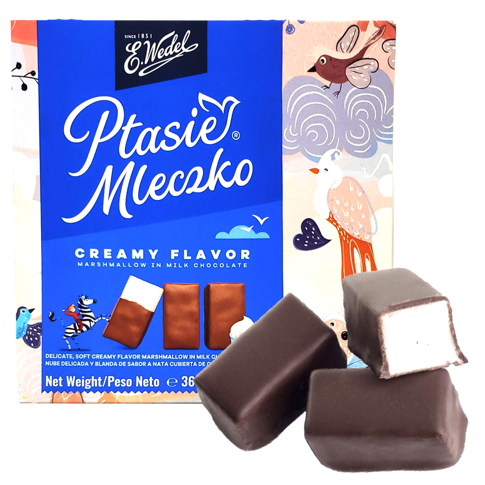 Ptasie Mleczko WEDEL Bird's Milk with Creamy Filling, 360 g