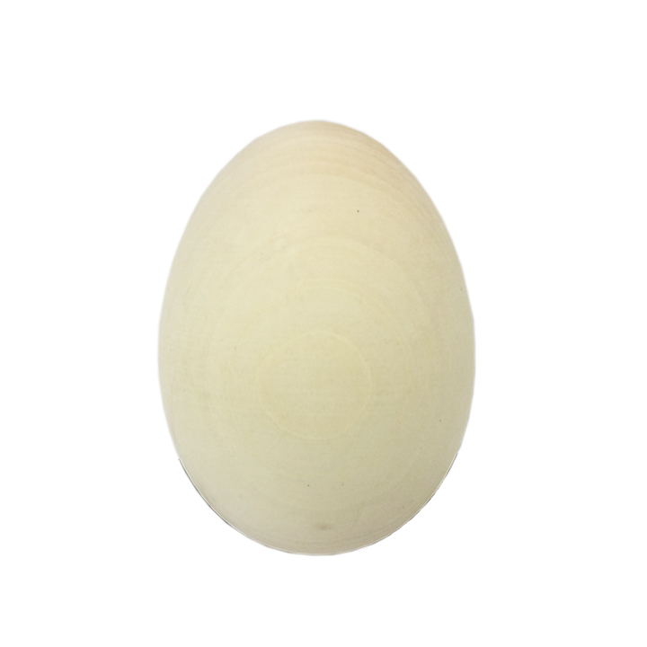 Easter Gift Ideas Big Blank Unpainted Wooden Egg for Drawing, Easter Crafts, 3.5