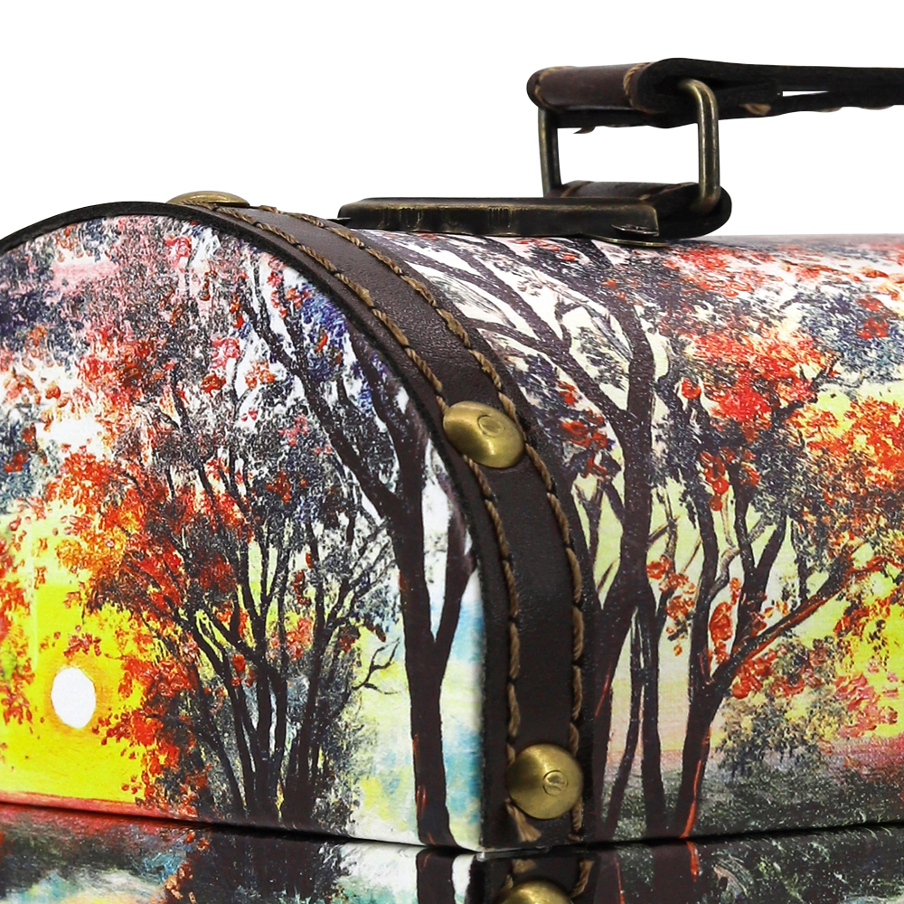 Exclusive Sweet Gift (Only Chocolate Candy Inside) Evening, Wood+Leather, 680 g/ 1.5 lb