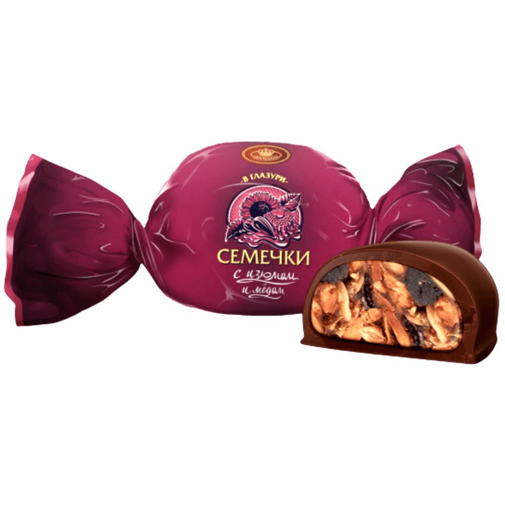 Candy Chocolate Glazed Seeds with Raisins & Honey, Granddian, 1 kg / 2.2 lb