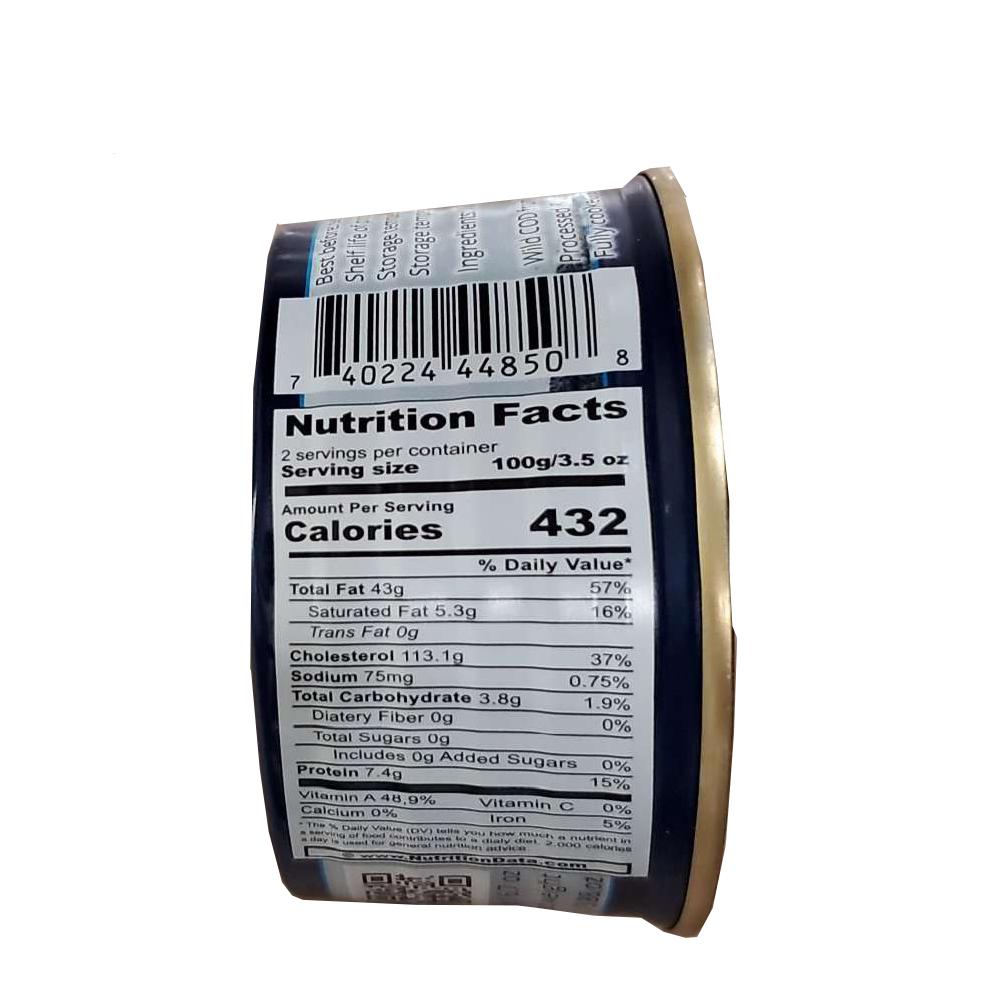 Wild Cod Liver, 0.42 lb/ 190g