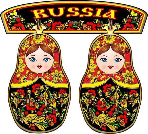 Khokhloma Matryoshka Souvenir Cutting Boards Set of 3 (A0142, design #1)