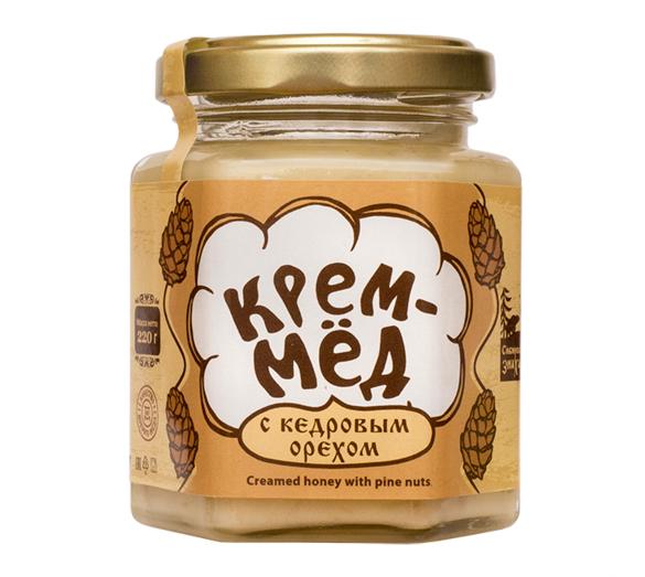 Cream-Honey with Cedar Nut, Siberian Healer 7.8 oz / 220 g