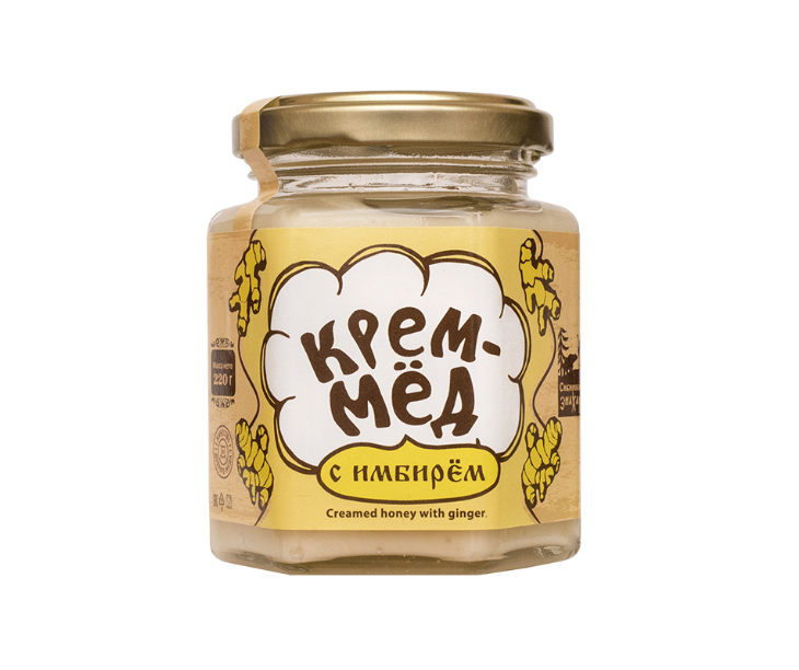 Cream Honey With Ginger, 220g