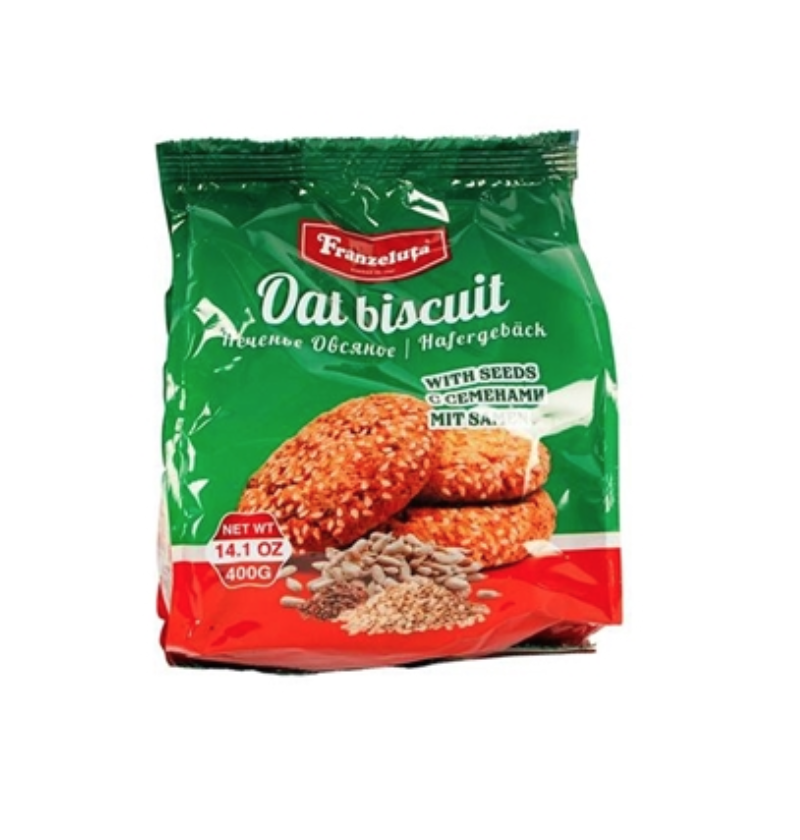 Oatmeal cookies with seeds, 14.1 oz /400 g