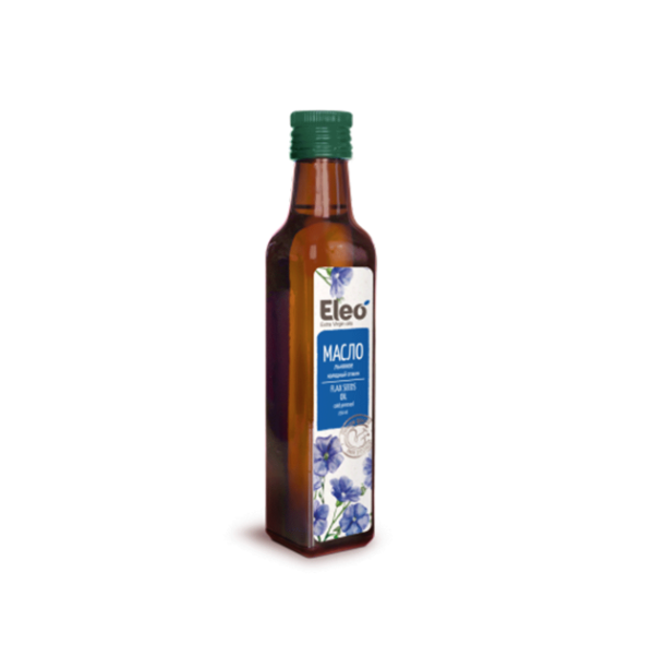 Linseed Oil Vegan Tasty Natural Eco Health Vitamin, Eleo, 8.5 fl oz / 250 ml