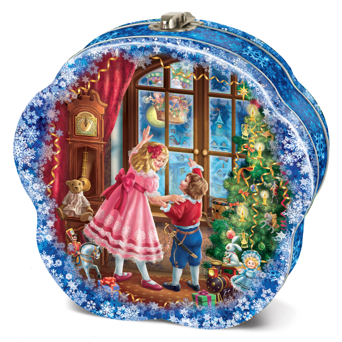 """Sweet New Year Gift """"Festive"""" in a tin box, 2.2 lb"""