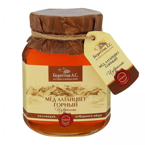 Mountain Altai Flower Honey, 17.56 oz / 500 g
